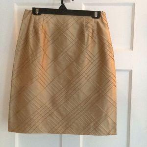 Talbots Pure Silk Gold Skirt